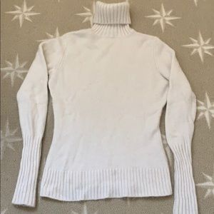 Ivory cashmere turtleneck sweater